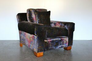 Rare Sublime Ralph Lauren Club Armchair in Paisley Velvet  2 Available - <span itemprop=availableAtOrFrom>Whalley, United Kingdom</span> - Returns accepted under the terms of the Distance Selling Regulations, with return shipping costs to be covered by the Customer. Most purchases from business sellers are protected by the C - Whalley, United Kingdom