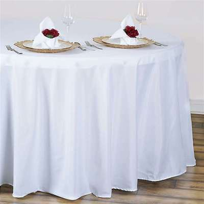 5 pack 90 in. round Polyester Seamless Tablecloth~Wedding~NEW