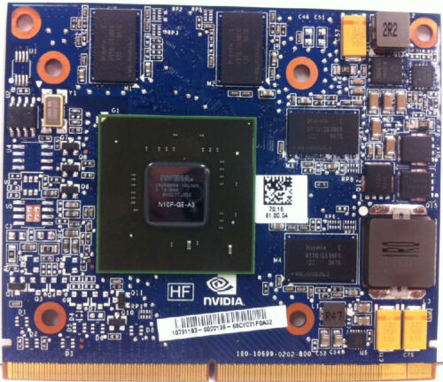 608545-001 HP//NVIDIA GeForce GT230 1GB MXM Scorpius N10p Graphics Card P//N