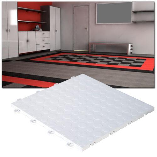 Garage TilesCoin Top White - Made In the USA