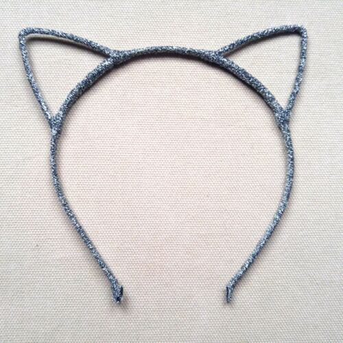 Glitter Cat Ears Headband Kid Adult Fancy Dress Hen Do Party Costume Alice Band