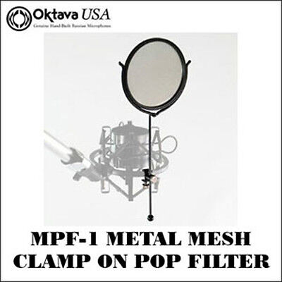 Oktava MPF-1  -  Metal Mesh Clamp-On Pop Filter - Reduce P-Pops - Stops Spittal