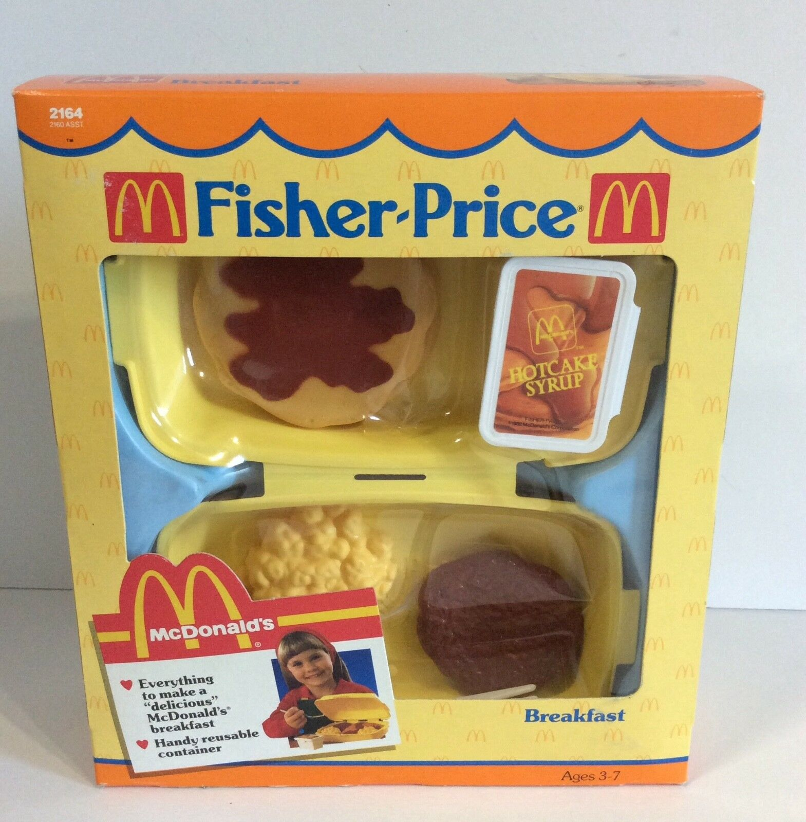 Fisher Price McDonald's 1988 Fun With Food Breakfast Playset - Mod 2164 - NEW
