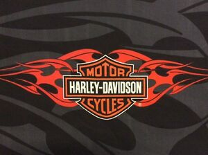 harley davidson logo fabric panel orange flames black gray shield 17 rh ebay com harley davidson logo for cnc router harley davidson logo for cnc router