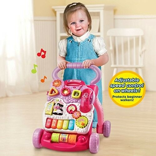 Baby Push Walker Sit To Stand Learning Toddler Walking Toys Activity Board Gift