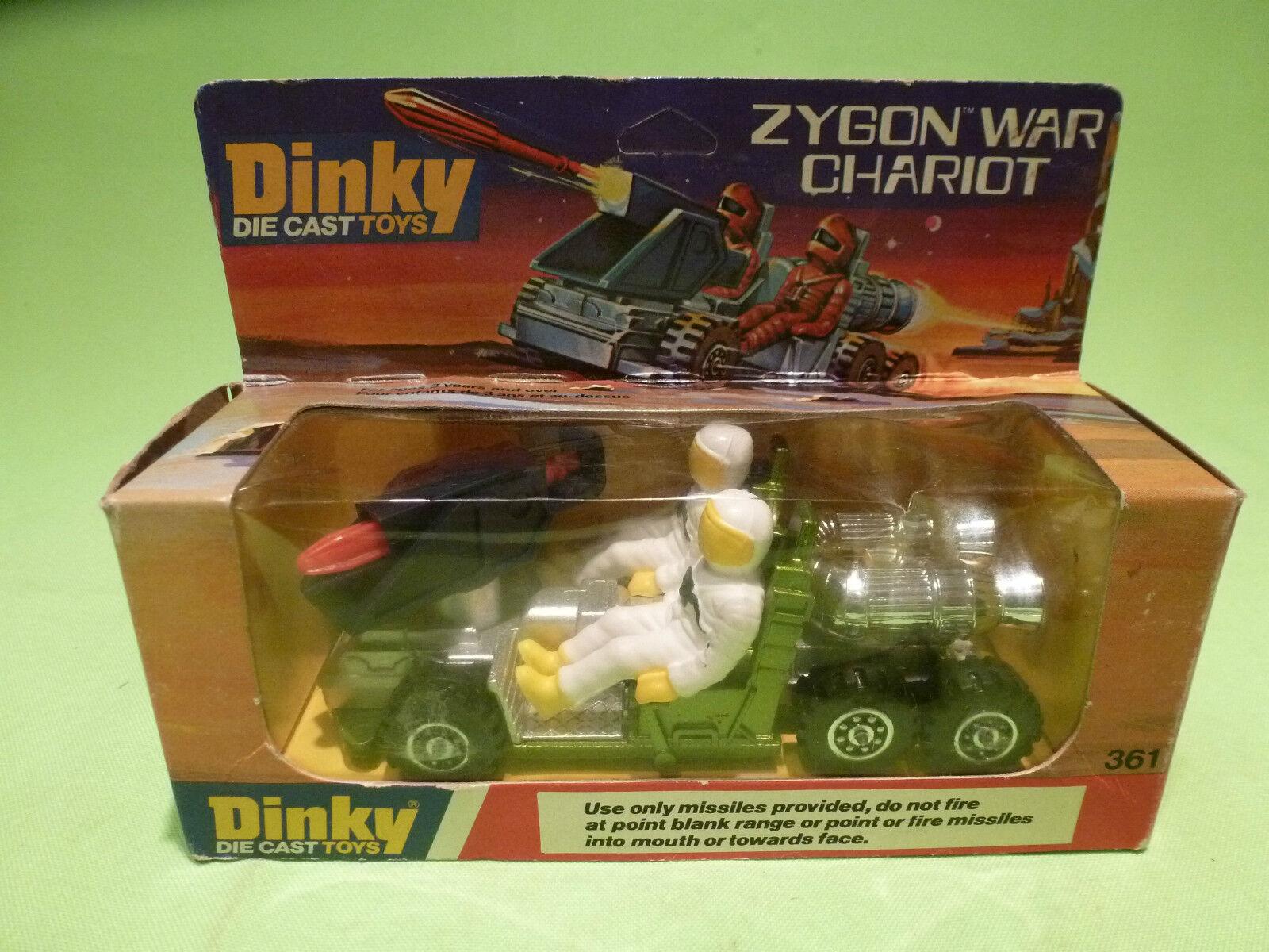 DINKY TOYS 361 ZYGON WAR CHARIOT - vert + blanc - RARE SELTEN - GOOD COND.