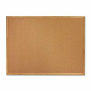 Sparco-Wood-Frame-Cork-Board-24-034-Height-X-18-034-Width-Brown-Cork-Surface-Oak