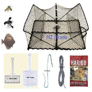 Krebskorb-Krebsreuse-Plattfischkorb-fish-cray-trap-Koeder-Korb-haken-Schnur-Harib