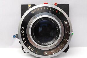 Selten-Black-NEAR-MINT-Kodak-Commercial-Ektar-10in-6-3-Objektiv-4x5-Board-aus-Japan