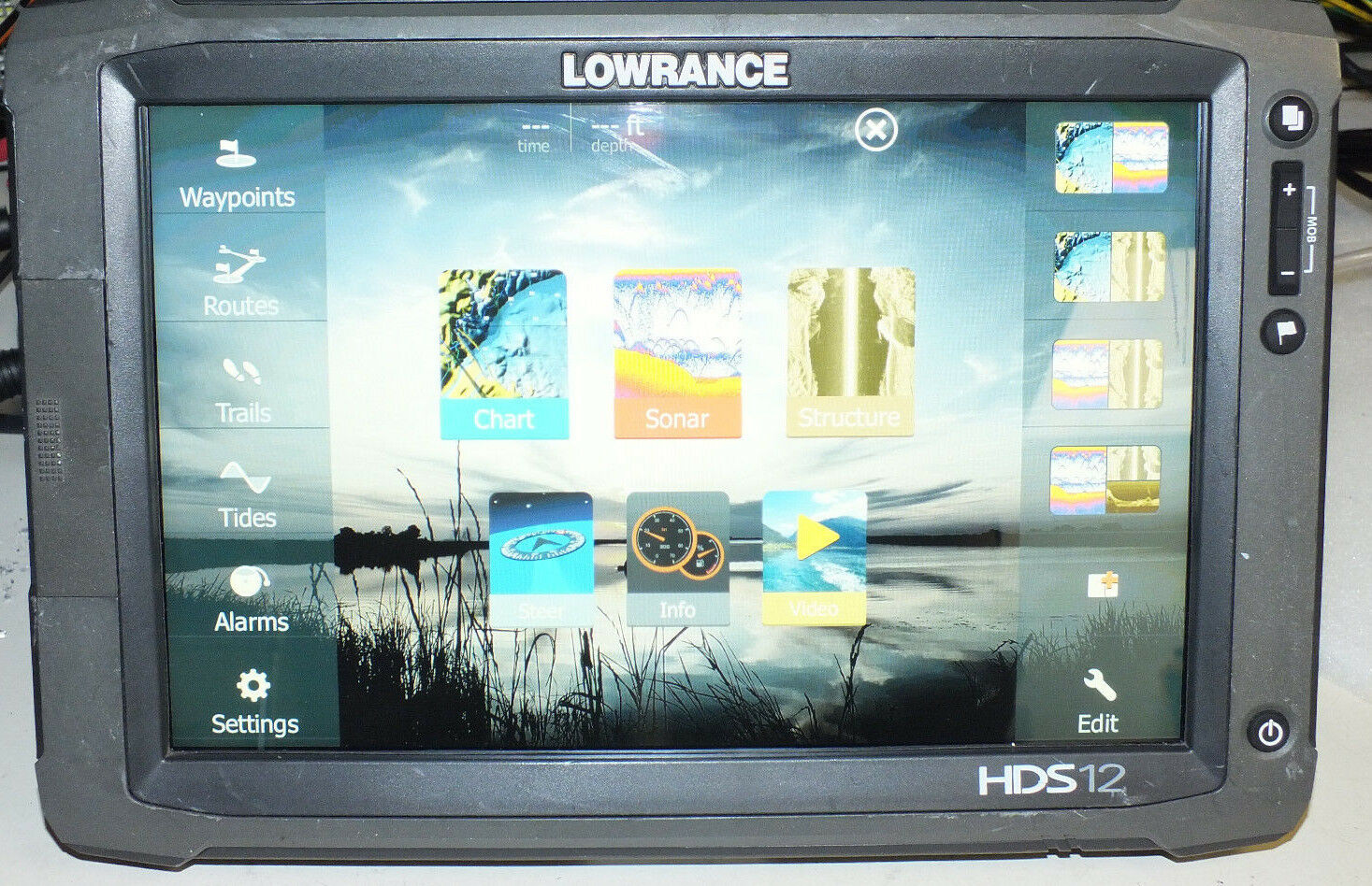 Niedrigrance HDS 12 Touch Insight GEN 2 GPS/Fishfinder HDS12 LMS LCX USA MAPS