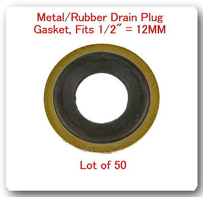M12 Metal Rubber Oil Drain Plug Gasket GM Chevrolet 097-021 lot of 10