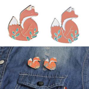 Cute-Enamel-Fox-Brooch-Pin-Cartoon-Animal-Badge-Corsage-Brooch-Jewelry-Gift
