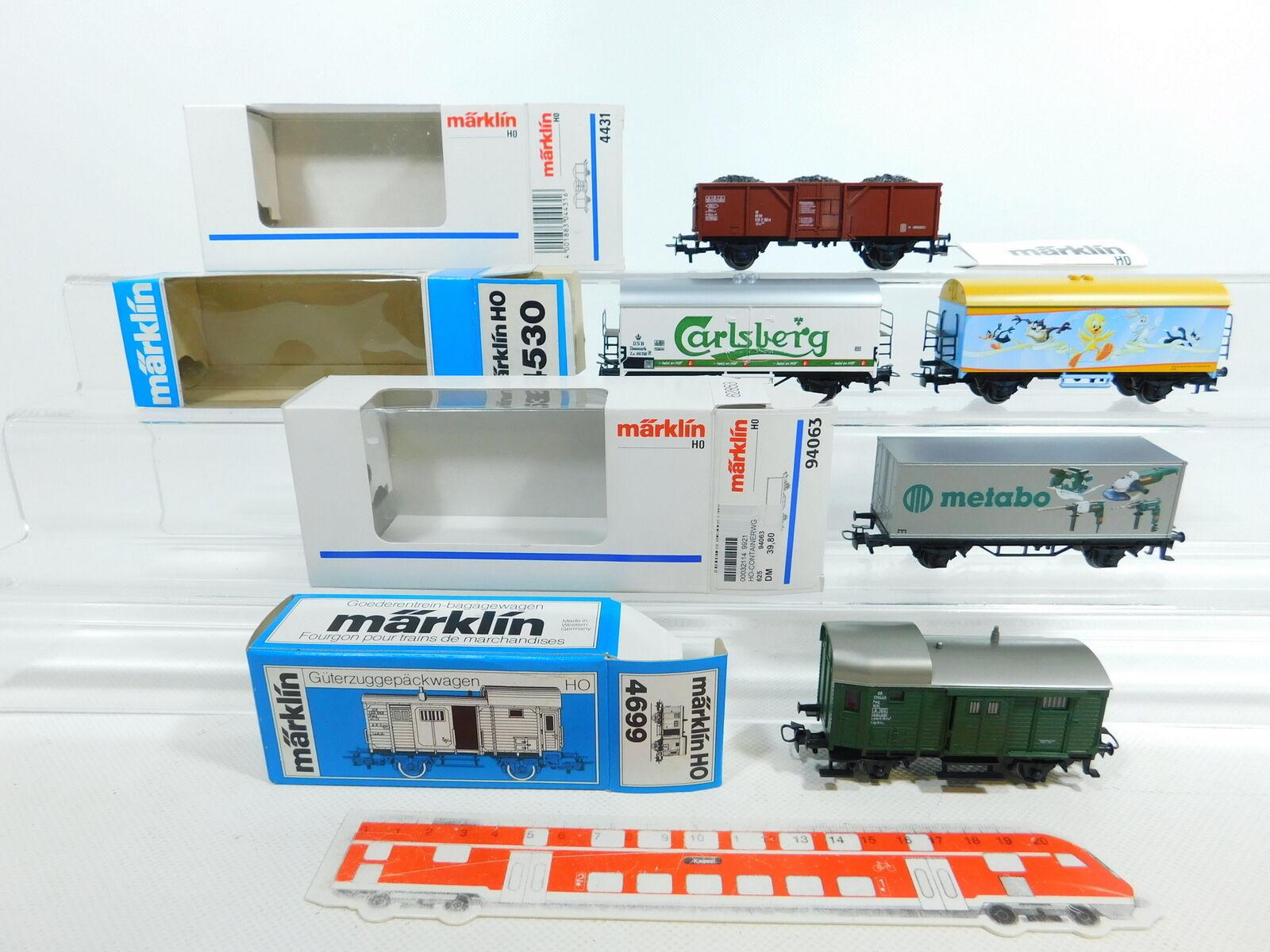 BV821-1 x Märklin H0 Ac Freight Car  4530 Dsb +4699 4431 Db etc. ,Mint + 4x Ob