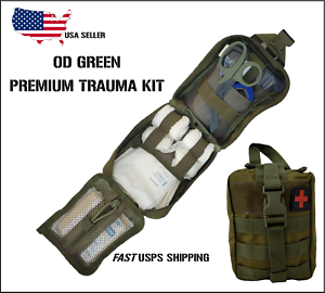 NEW-Tactical-MOLLE-First-Aid-IFAK-Trauma-Kit-OD-Green-stop-the-bleed