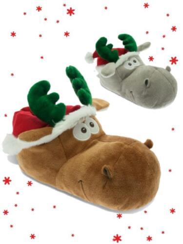 Pantofole bambini moppine natalizie renna De Fonseca *21954