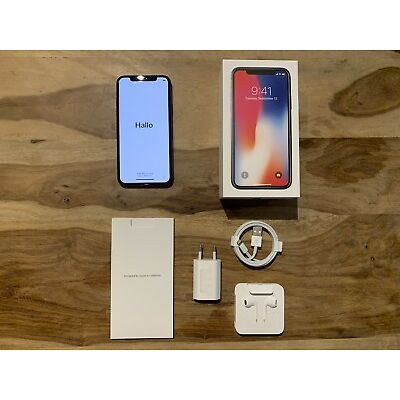Apple iPhone X - 256GB - Space Grau (Ohne Simlock) A1901 GSM mit Zubehoer & OVP
