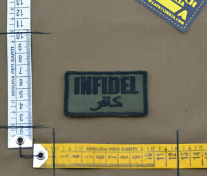 Ricamata-Embroidered-Patch-034-Infidel-034-OD-with-VELCRO-brand-hook