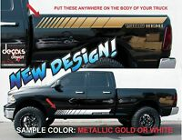 Rocker Panel Stripes Vinyl Graphics Dodge Ram Hemi Rebel 1500 Freshly Cut
