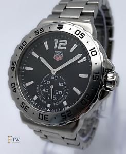Tag Heuer Formula 1 One Grande Date WAU1112 42mm Black Dial Box & Papers 2012