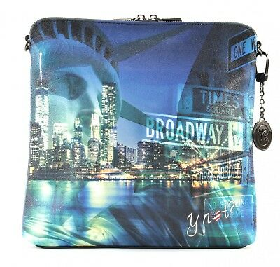 Y NOT? Yes Instant Shoulder Bag Umhängetasche Tasche Broadway Blau Grün Neu