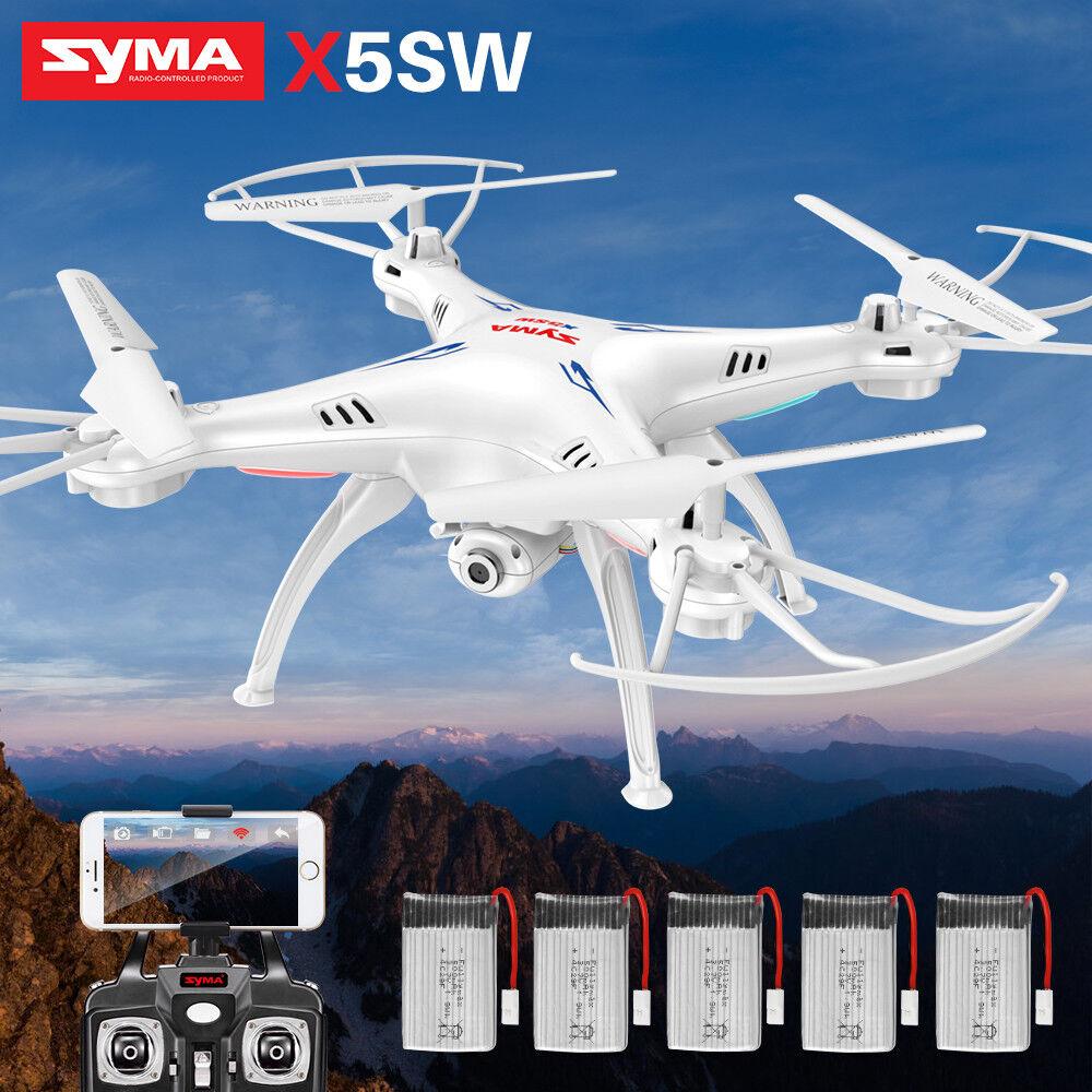 SYMA X5SW Quadcopter RC Drone Wifi Camera FPV Aircraft Headless 3D Aerobatic