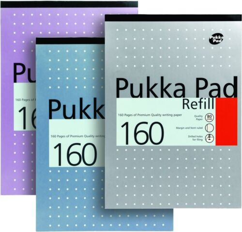 Pukka Refill A4 Pad Headbound Feint Ruled With Margin 4 Hole Punched 160 Pages