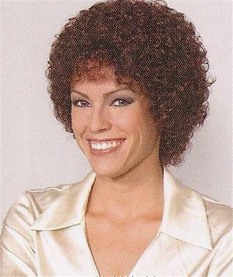 Dark Auburn Short Wig w/ Medium Tight Curls - Sandra