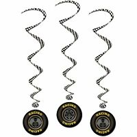 Racing Tire Whirls 3 Piece Race Car Party