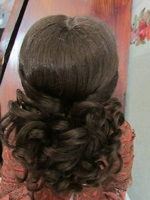 SIZE  9 DARK BROWN  SARA ANTIQUE MODERN DOLL WIGS  SYNTHETIC MOHAIR