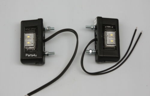 1 Paar LED Kennzeichenleuchten Anhänger Kennzeichenbeleuchtung 200mm Kabel NEU