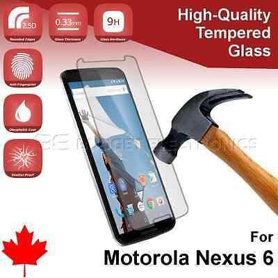 Google Motorola Nexus 6 Premium Tempered Glass Screen Protector from Canada