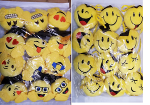 """Lot of 12 pieces of Graduation Emoji 3/"""" inches or Emoji 5/"""" inches plush New"""