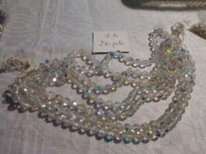 Lot de 10 perles à FACETTES 10mm en Cristal de Bohème Cristal