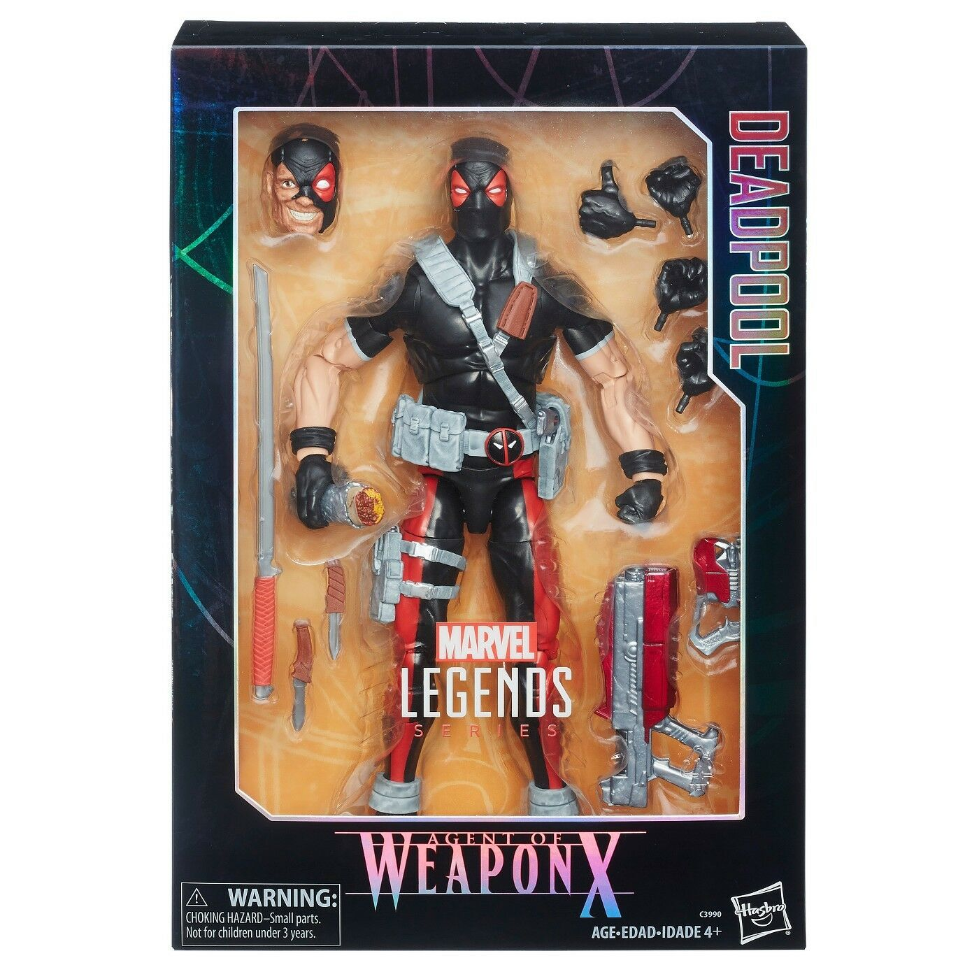 MARVEL MARVEL MARVEL LEGENDS SERIES DEADPOOL AGENT OF WEAPON X 12 Inch Action Figure Brand New 63372b
