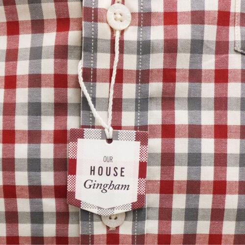 Original BEN SHERMAN Men/'s Long Sleeve Gingham Check Shirt MA11362 Red Blue