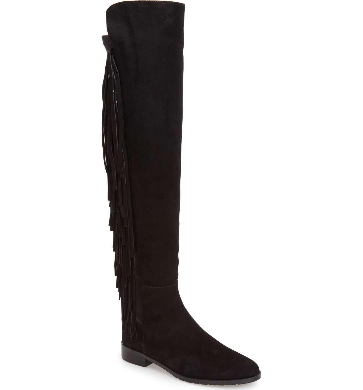 Stuart Weitzman 'Mane' Over the Knee Stretch Black Boot 5209 Size 9.5 M