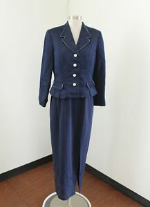 Rickie Freeman Teri Jon Nites Navy Blue Evening Dress