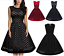 Women-039-s-Vintage-Polka-Dot-Formal-Cocktail-Party-Evening-Swing-Retro-Gala-Dress