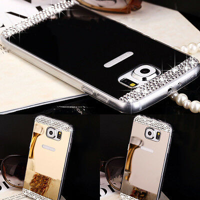 Slim Bling Diamond Mirror Soft TPU Back Case Cover For Samsung S7 Edge S7 LG G4
