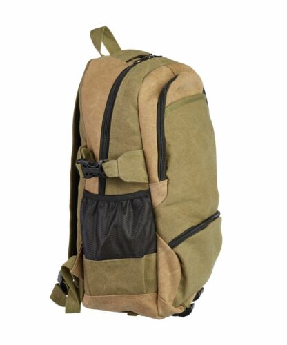Men  Lorenz Two Tone heavy duty Canvas Backpack Rucksack Shoulder Laptop Bag