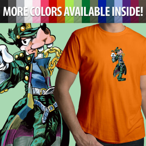 Jojo/'s Bizarre Adventure Disney Goofy Jotaro Kujo Unisex Mens Tee Crew T-Shirt