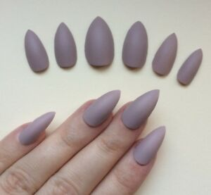 Image Is Loading Hand Painted False Nails Stiletto Or Any Shape