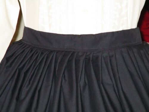 CIVIL WAR DRESS~VICTORIAN STYLE LOVELY 100/% COTTON  BLACK MOURNING OR DAY SKIRT