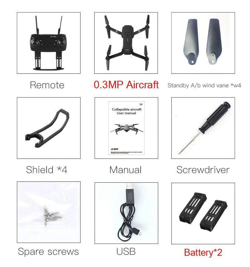 Cuadricóptero Drone X Pro con ángulo amplio cámara HD brazo modo de retención de alta y brazo HD plegable df84cd