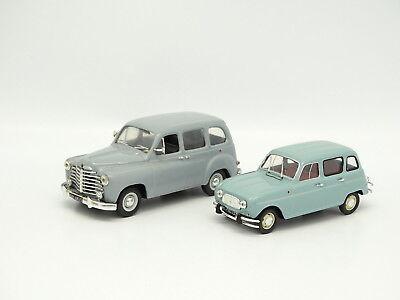 Renault 4L et Renault 6 LOT 2 Voiture 1//43 SALVAT Autos Inolvidables