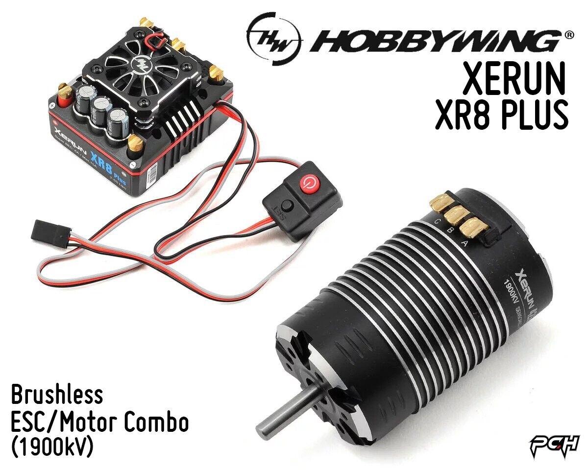 HOBBYWING XERUN XR8 PLUS Brushless ESC G2 Motor Combo (1900kV) HBW38020405