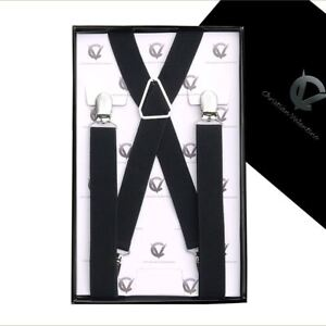 Men/'s Black Y3.5cm Extra Large Braces Mens Suspenders