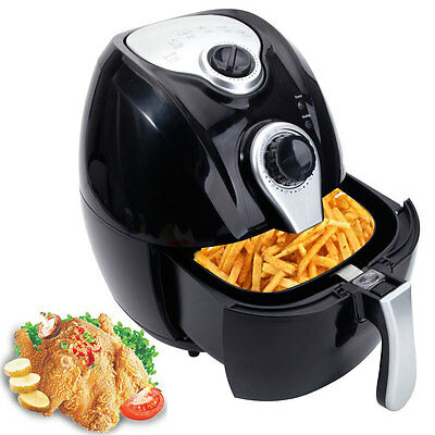 Electric Air Fryer w/ Temperature Control, Detachable Basket & Carry Handle