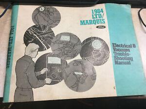 1984 Ford LTD Mercury MARQUIS Electrical Diagnosis Vacuum ...