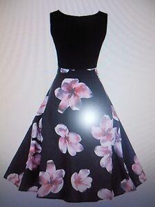 Geschickt Damenkleid Frauen Vintage Kleid Retro Blumendruck Abendkleid Hevoiok Kleid Gr. L